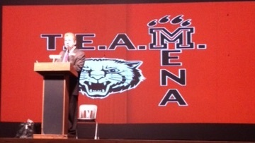 Mr. Weston Welcomes Back T.E.A.M. Mena